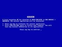 Sticky valve - blue screen of death